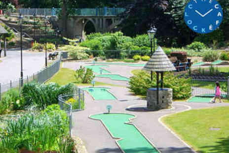 The Clock Cafe - Round of Mini Golf for Two with Cream Tea - Save 52%