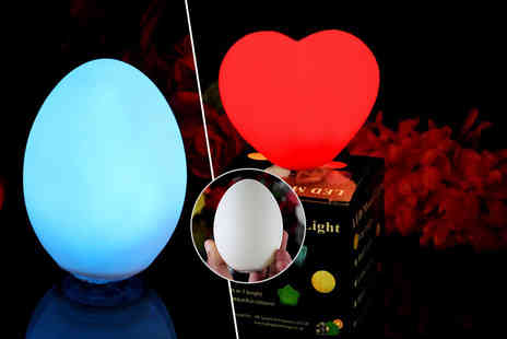 PK Green shop - Two colour changing mood lamps in a choice of five designs - Save 79%