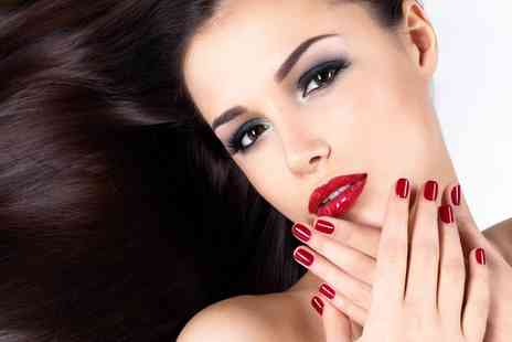 Brooklyn Salon - Gel Polish on Hands with Manicure plus Optional Wash, Cut and Blow Dry - Save 64%
