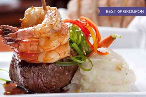 Hengist - 16oz Chateaubriand Meal with Garlic King Prawns and Accompaniments for Two  - Save 0%