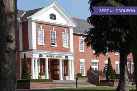 Best Western Plus Manor Hotel - One Night Country Manor Stay For 2 to 4 With Cadbury World or Warwick Castle Tickets - Save 0%