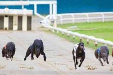 Henlow Racing - Greyhound Racing With Three Course Meal and Wine For Two People - Save 53%