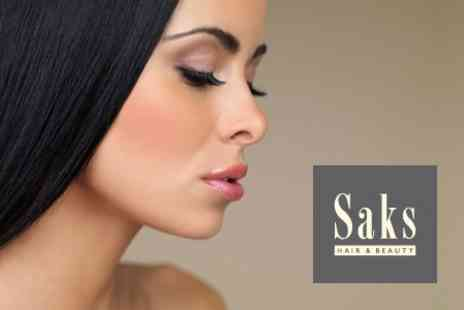 Saks Hair and Beauty - Nouveau Eyelash Extensions With Voucher Towards Any Other Treatment - Save 74%