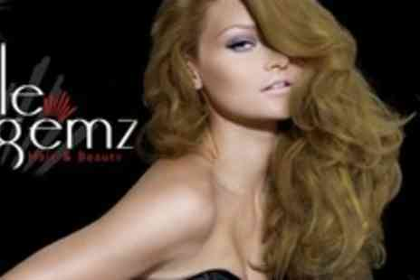 Little Gemz Hair - Half Head of Foil Highlights With Cut and Blow Dry Plus Deep Conditioning Treatment - Save 64%