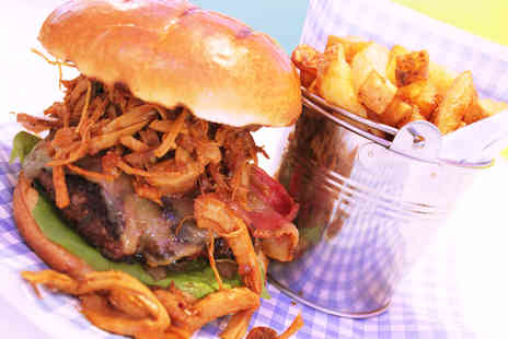 New Yorkies - Burger, chips and drink for two   - Save 56%