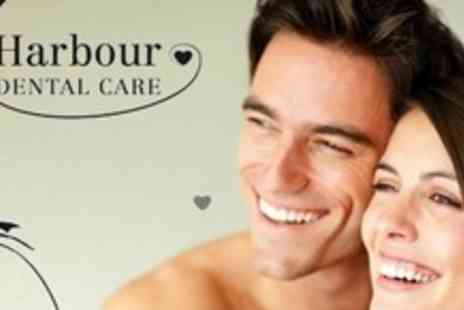 Harbour Dental Care - Dental Exam With Scale and Polish and Custom Fitted Teeth Whitening Tray - Save 75%