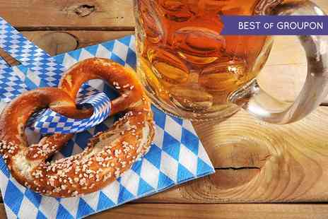 Stein Bier Keller - Four Steins and Two Pretzels for Two - Save 58%