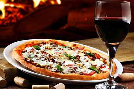 Brew Haus Lincoln - Pizza with a Glass of Wine for Two or with a Bottle of Wine to Share for Four  - Save 53%