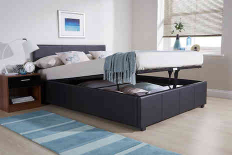 Home and Bed Direct - Ottoman End Lift Bed Four Sizes And Three Colours - Save 60%