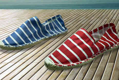Mrs Marcos - Mens Striped Espadrilles  Available in Two Colours - Save 52%