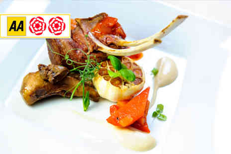 La Garrigue - Two course French meal for two including a glass of wine each - Save 47%