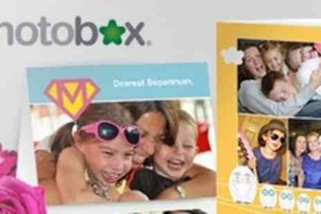 PhotoBox - Personalised Greeting Cards in Set of Forty - Save 65%
