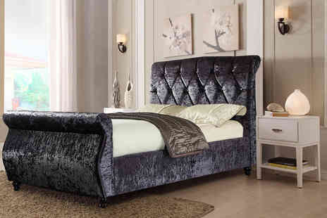 Furniture Instore - Double Chesterfield sleigh bed - Save 55%