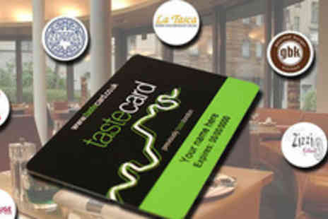 Tastecard - 12 month tastecard Subscription - Save 50%