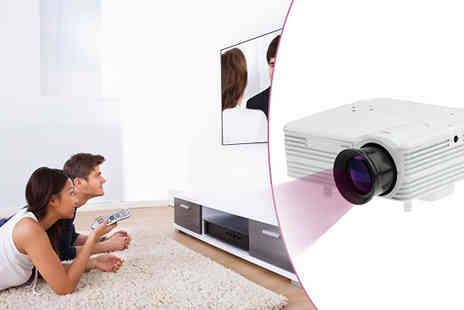 Rose River - 1080P Portable LED Projector with 80 Lumens HD Support - Save 51%