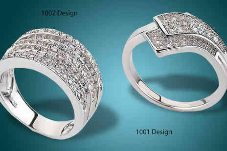 lolbargain limited - Choice of White Gold Plated Zircon Encrusted Rings - Save 47%