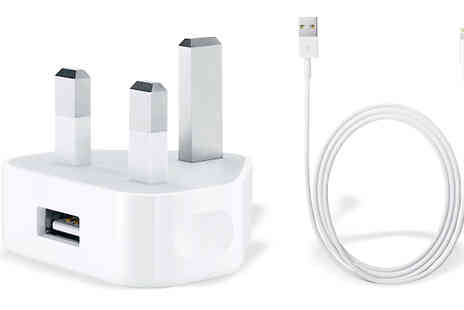 Tech Tronics - Genuine Apple Charger with 1m Lightning Cable and Plug - Save 53%