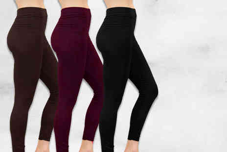 Nothing New 2 Wear - Two pairs of fleece lined leggings - Save 80%