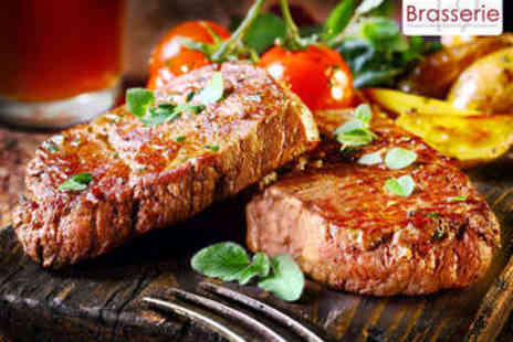 Brasserie 19 - Steak and Chips with Wine for Two - Save 59%