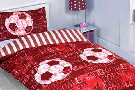 Lights and Linen - Red Printed Football Bedding Set - Save 20%