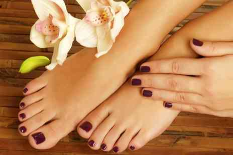 Blissfully Young - Shellac on Fingernails, Toenails or Both  - Save 50%