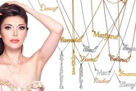 SilvexCraft - Personalised Name Necklace in Choice of Four Fonts With Free Delivery - Save 81%