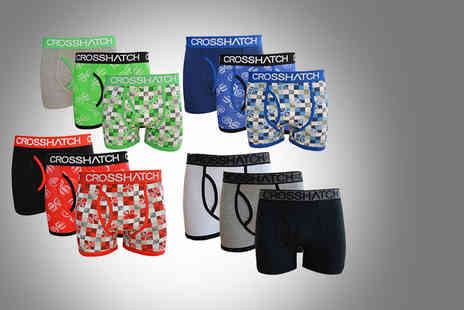 Brand Shopping Direct - Pack of three mens Crosshatch boxer shorts in one of two designs - Save 56%
