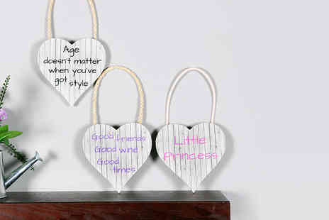 "Your Perfect Canvas - 5.5"" x 5.5"" hanging wooden heart plaque  - Save 80%"