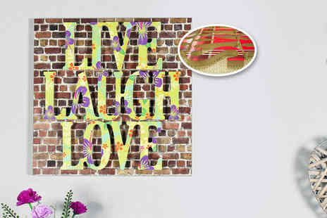 Your Perfect Canvas - 3D wooden wall plaque choose from five meaningful quotations and a wide range of designs - Save 78%
