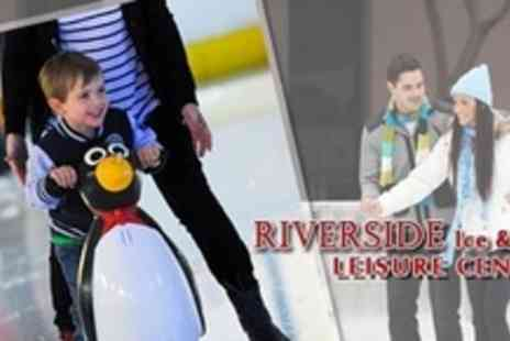 Riverside Ice and Leisure Centre - Family Ice Skating For Four With Skate Hire - Save 50%