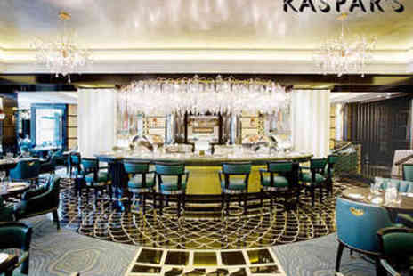 Kaspar's Seafood Bar and Grill at The Savoy - Three Course Meal for Two with Champagne - Save 41%
