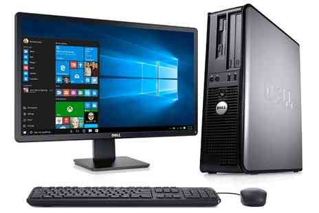 Computer Remarketing Services - Refurb Dell 755 Desktop Core 2 Duo Win 10 Plus Monitor, Keyboard and Mouse With Free Delivery - Save 0%