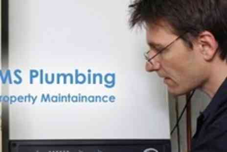 HMS Plumbing & Property Services - Boiler Service and Certificate - Save 68%