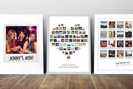 Prints With Feelings - A4 Polaroid collage print  - Save 79%