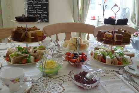 The Willows Vintage Tea Room - Afternoon Tea with an Optional Glass of Bubbly for Two or Four - Save 35%
