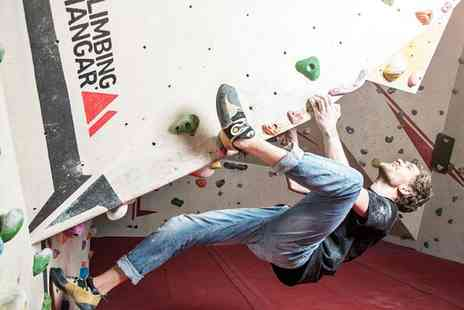 The Climbing Hangar - Indoor Climbing Lesson for Beginners and Day Pass for One, Two or Four - Save 50%