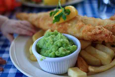 Kingfisher Fish & Chips - Fish and Chips with tea or coffee for two - Save 43%