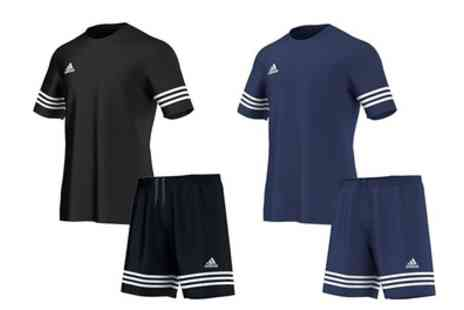 Salvador Company - Adidas Entrada Sports T-Shirt and Shorts Set in Black or Blue With Free Delivery - Save 0%