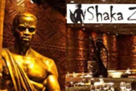 Shaka Zulu  - £50 worth of food - Save 50%