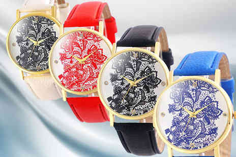 Bentleys Bargain Warehouse - Floral Analogue Watch Choose from four Colours - Save 0%