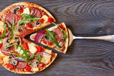 Esca - Italian pizza, pasta or risotto meal for two including a glass of wine or bottle of beer each - Save 53%