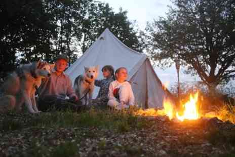 Eagle Heights - One Nights Camping In a Teepee For Up to Four With Husky Experience, Breakfast and Dinner - Save 0%