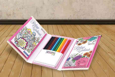 Home and Kitchen Direct - Colour Therapy Colouring Kit - Save 58%