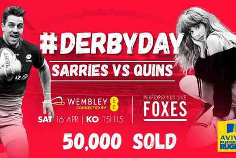 Saracens - Saracens v Harlequins at Wembley Stadium with FOXES live music  - Save 0%