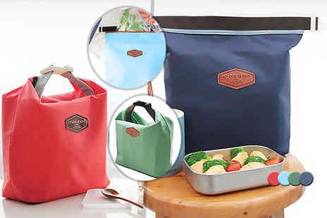 Fizzy Peach - One thermal lunch bag, two thermal bags choose from four colours - Save 80%