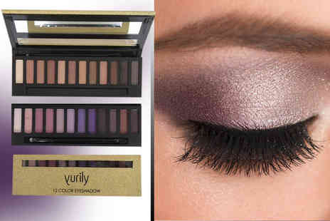 My Perfume Room - Yurily 12 colour eyeshadow palette, face contour set or perfect brow kit  - Save 80%