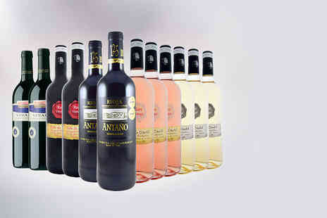Premium Rioja - Mixed 12 bottle hamper of vintage Spanish wines with savour reds, whites and roses - Save 65%