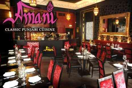 Amani - £18 Two Course Authentic Punjabi Cuisine With House Wine For Two - Save 61%