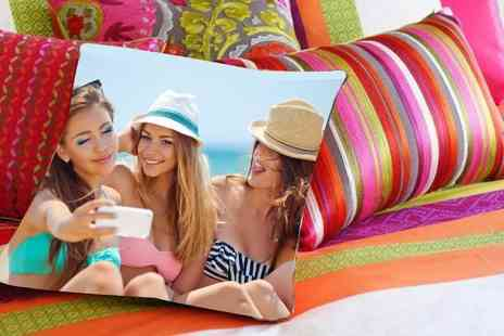 Dip Into Sales - Personalised colour photo cushion choose from four sizes  - Save 60%