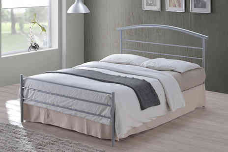 Furniture Instore - Single Brennington metal bed frame or small double or double or king size frame - save up to 60% - Save 60%